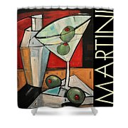 Martini Poster Shower Curtain