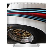 Martini Racing Lines Shower Curtain