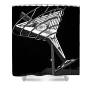 Martini Sign B-w Shower Curtain