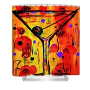 Martini Twentyfive Of Sidzart Pop Art Collection Shower Curtain