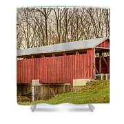 Martinsville Covered Bridge Shower Curtain