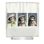 Marty Morph Shower Curtain