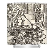 Martyrdom Of Saint Lawrence Shower Curtain