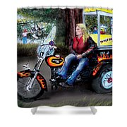 Marty's Harley Shower Curtain