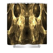 Marucii 168-03-13 Gold Mask Shower Curtain