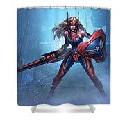Marvel Future Fight Shower Curtain