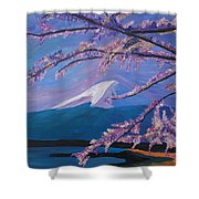Marvellous Mount Fuji With Cherry Blossom In Japan Shower Curtain