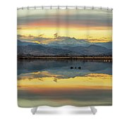 Marvelous Mccall Lake Reflections Shower Curtain
