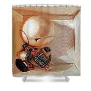 Marvin, Paranoid Android In A Box Shower Curtain