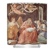 Mary And Angels 1611 Shower Curtain