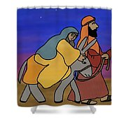 Mary And Joseph  Shower Curtain