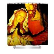 Mary And Joseph Shower Curtain