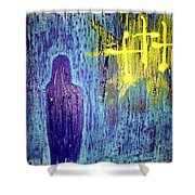 Mary And The Crosses Shower Curtain