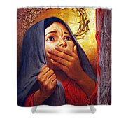 Mary At The Cross - Lgmrc Shower Curtain