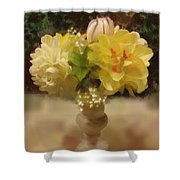 Mary Beth's First Spring Flowers Shower Curtain