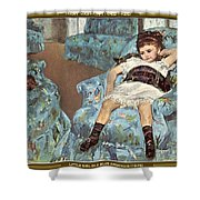 Mary Cassatt-little Girl In A Blue Armchair1878 Po Amp 059 Mary Cassatt Shower Curtain