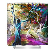 Mary Magdalene And Her Disciples Shower Curtain