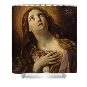 Mary Magdalene In Ecstasy At The Foot Of The Cross 1629 Shower Curtain