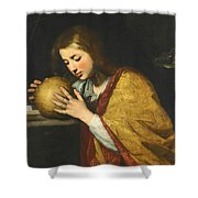 Mary Magdalene In Meditation  Shower Curtain