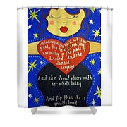 Mary, My Mother Shower Curtain