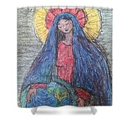 Mary, Queen Of Heaven, Queen Of Earth Shower Curtain