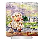 Mary The Scottish Sheep Shower Curtain