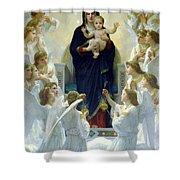 Mary With Angels Shower Curtain