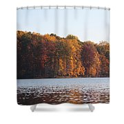 Maryland Autumns - Clopper Lake - Fall Bloom Shower Curtain