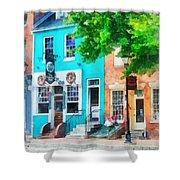 Maryland - Neighborhood Pub Fells Point Md Shower Curtain
