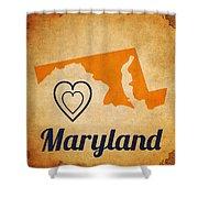 Maryland Vintage Shower Curtain