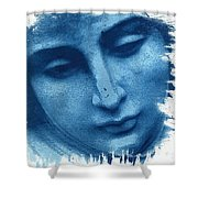 Marys Blues Shower Curtain
