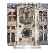 Marzaria Clocktower Reflection Shower Curtain