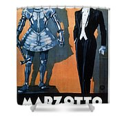 Marzotto - Italian Textile Company - Vintage Advertising Poster Shower Curtain