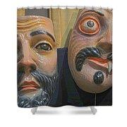 Mascaras 5 Shower Curtain
