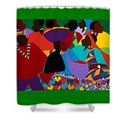 Masekelas Marketplace Congo Shower Curtain