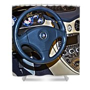 Maserati Interior Shower Curtain