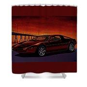 Maserati Merak 1972 Painting Shower Curtain