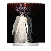 Mask-02 Shower Curtain by Theda Tammas