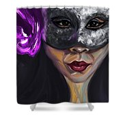 Mask And Flower Shower Curtain
