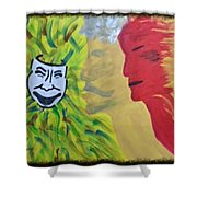 Mask Of Life Shower Curtain