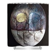 Mask Of The Moon Shower Curtain