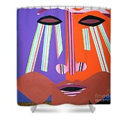 Mask With Streaming Eyes Shower Curtain
