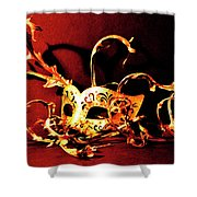 Masked Emotions Shower Curtain