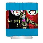 Masked Magician Shower Curtain