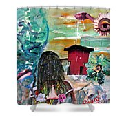 Masks Of Life Shower Curtain