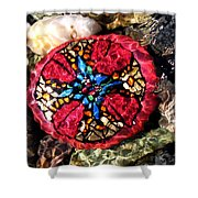 Masons Mosaic Shower Curtain