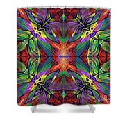 Masqparade Tapestry 7f Shower Curtain