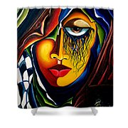 Masquerade - Scar Series 2  Shower Curtain