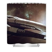 Mass Effect Normandy Space Planets Stars 15861 300x533 Shower Curtain
