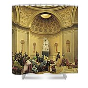 Mass In The Expiatory Chapel Shower Curtain by Lancelot Theodore Turpin de Crisse